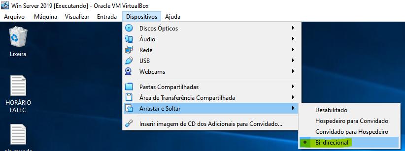 Como habilitar a Área de Transferência Compartilhada no VirtualBox